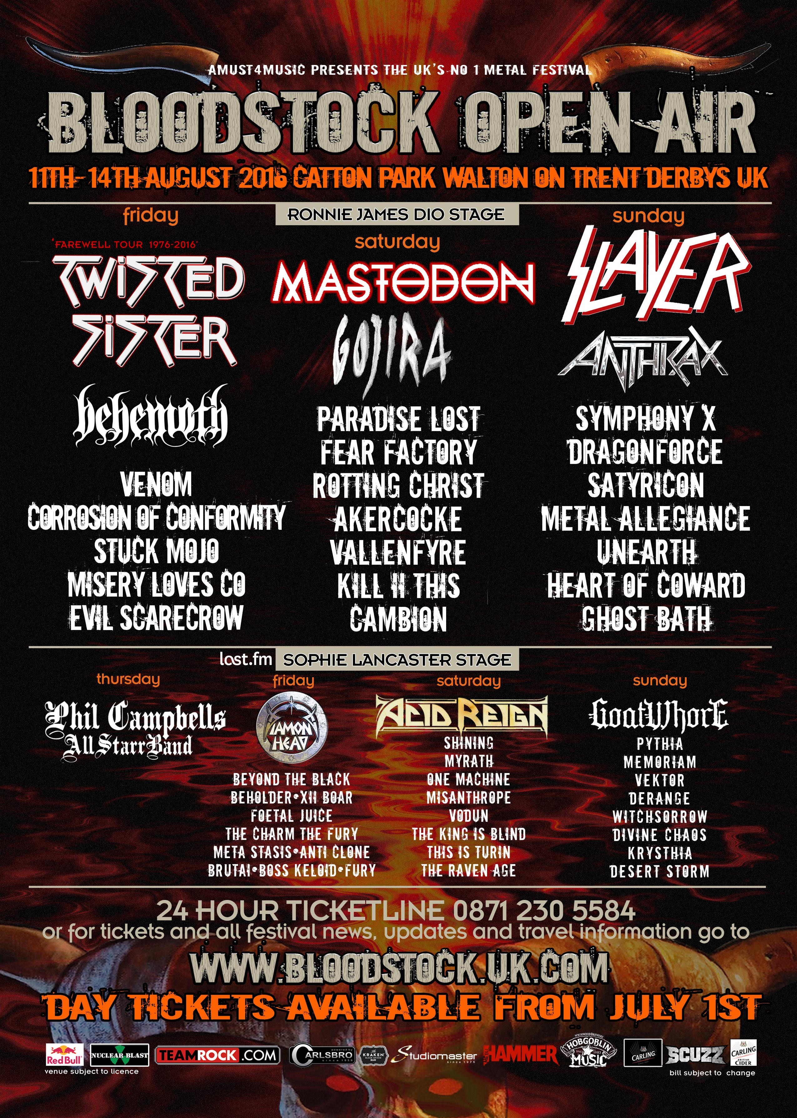 Have You Seen The Bloodstock Festival 2016 Line Up It S