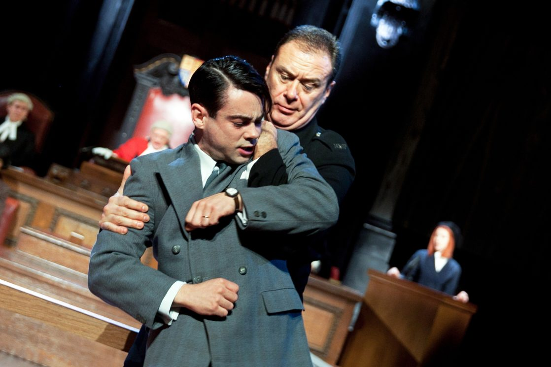 Jack McMullen and Jon House in Witness for the Prosecution (Credit: Sheila Burnett)